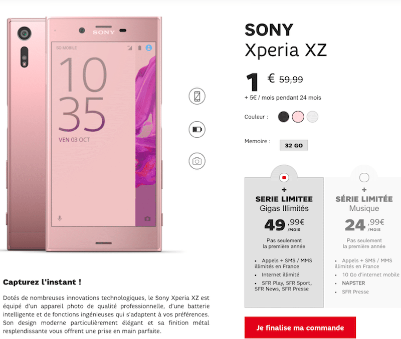 vente flash Sony