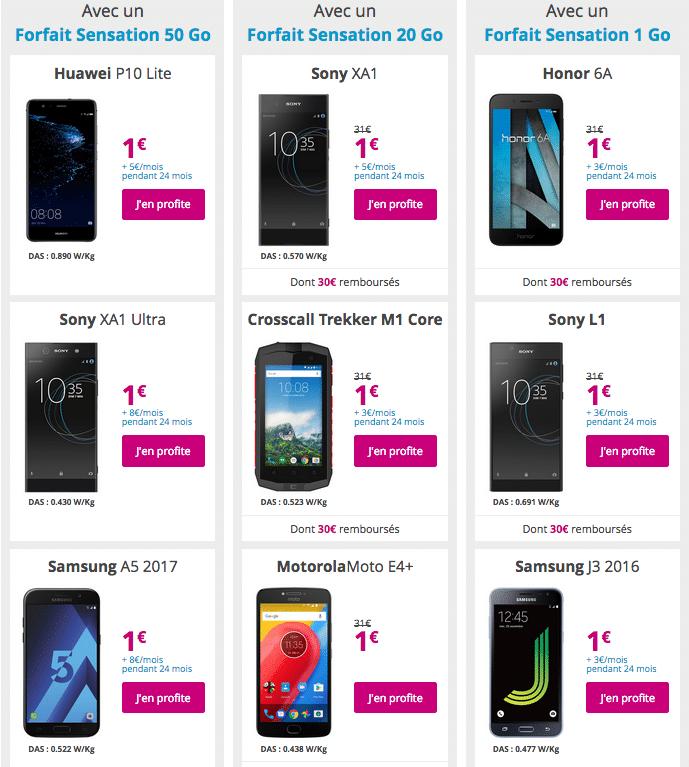 bouygues smartphones 1 euro