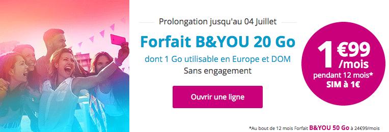 Forfait B&YOU 20 Go
