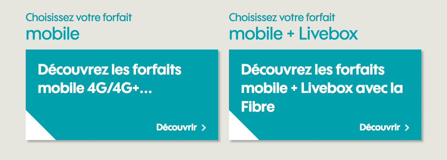Forafits internet et mobiles de Sosh