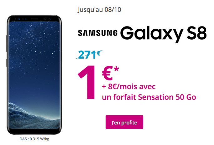 Bouygues samsung galaxy S8 1e