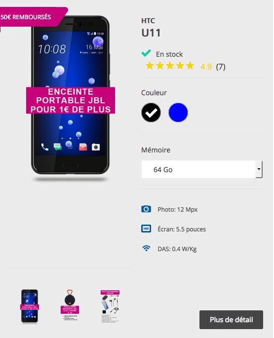 Bouygues telecom HTC U 11
