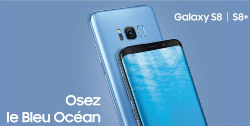 Le Samsung Galaxy S8 Bleu Océan dès 99,99€ chez SFR 3c34479cd52d