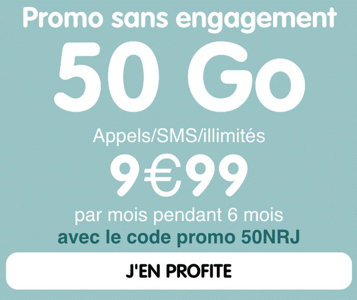 NRJ mobile la promo 50 Go
