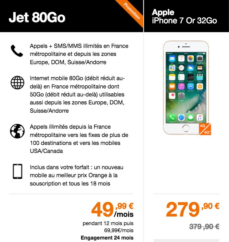 Orange applique en effet ce tarif attractif pour les clients faisant l acquisition  d un smartphone Apple en souscrivant simultanément ... 0782c2fe9818