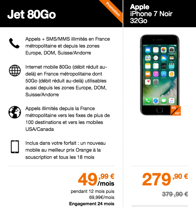 Orange forfait Jet