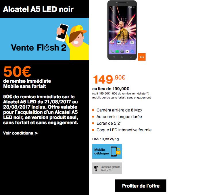 Orange vente flash alcatel