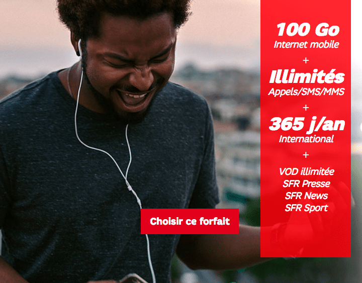 SFR 100 go vente flash