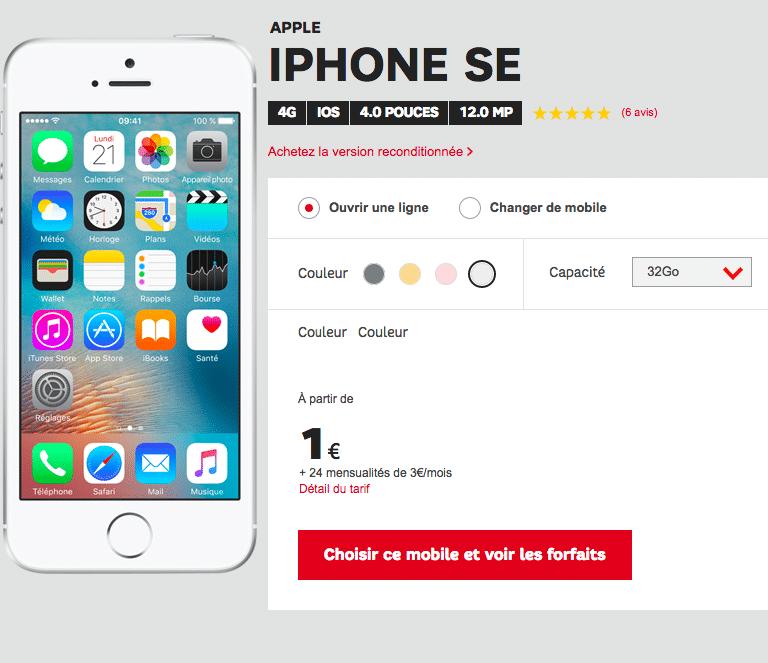 SFR iphone SE