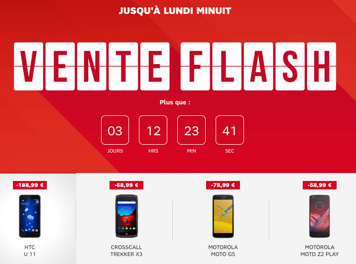 SFR vente flash smarphones