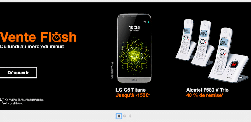 Derni res heures vente flash orange 150 de remise sur le lg g5 titanium - Vente flash internet ...