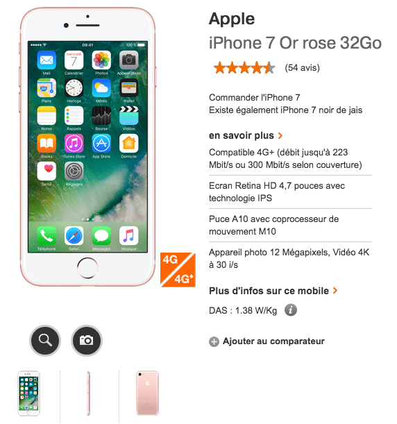promotion iphone 7 orange