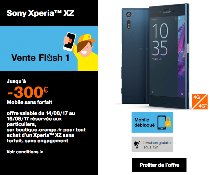 orange vente flash moins 300