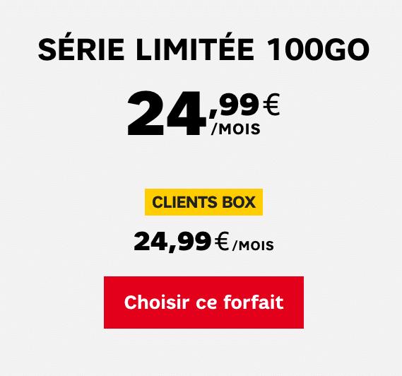Forfait 100 Go de SFR