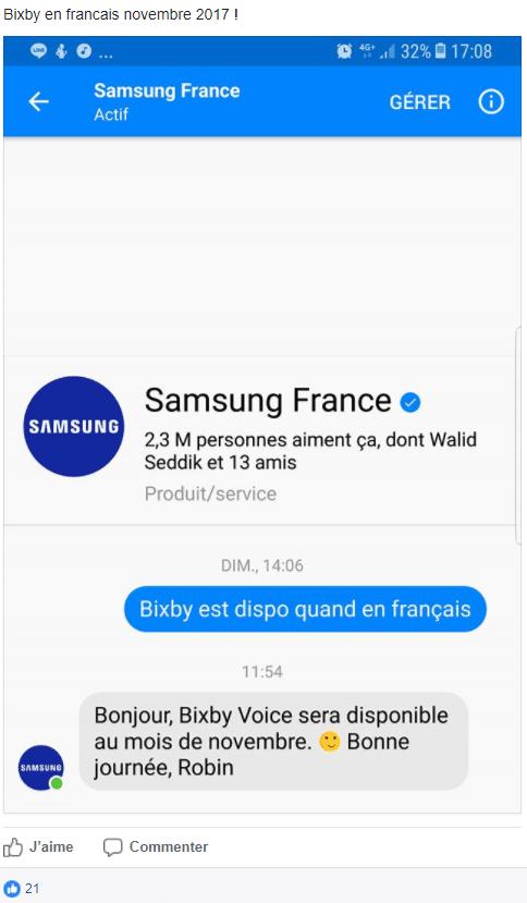 Bixby serait disponible en français au mois de novembre