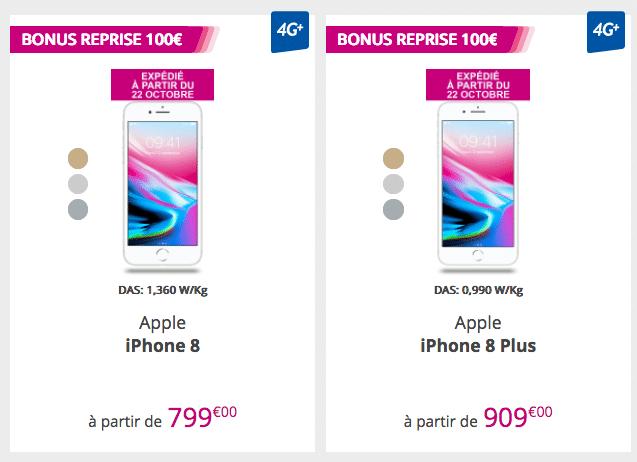 les iPhone 8 et 8 Plus