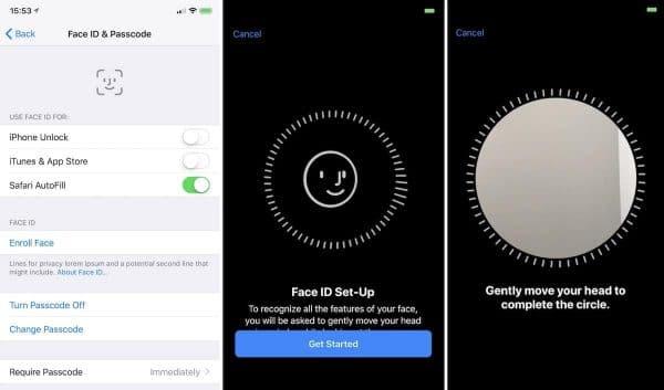 Face ID enregistre le visage de l'utilisateurs en 3D