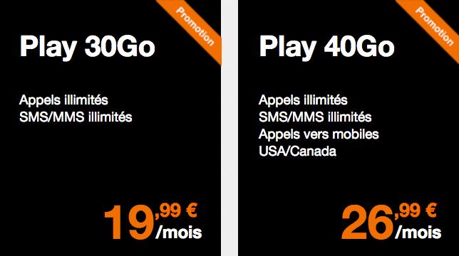 Forfaits iPhone X Orange