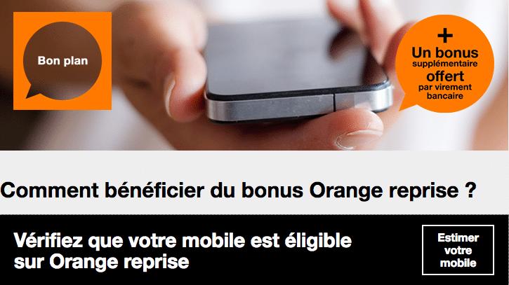 Les bonus de reprise par Orange