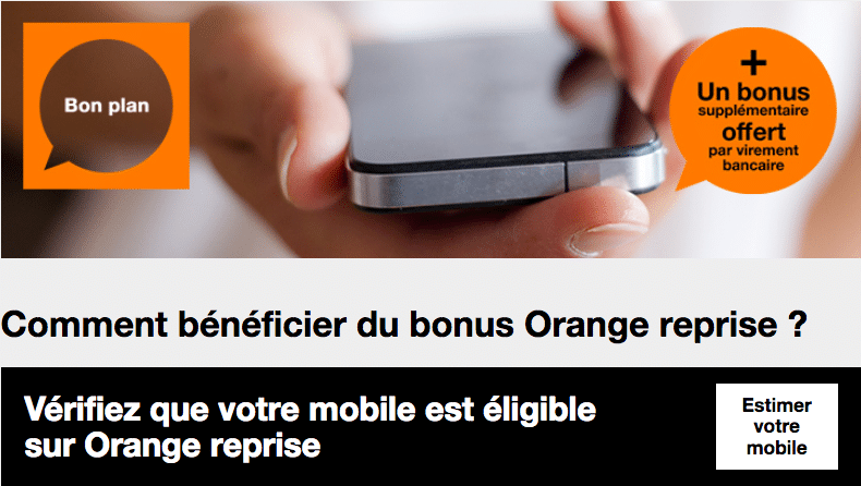 Offre Orange Reprise Iphone