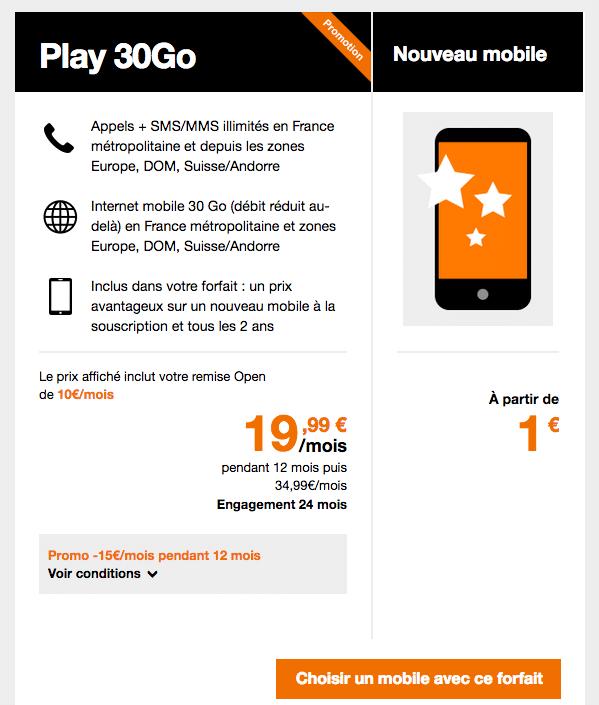 Orange vente flash play 30 go