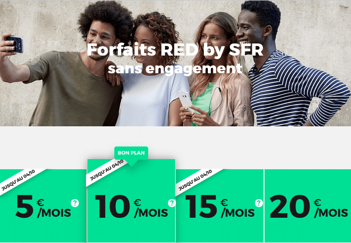 RED SFR forfaits