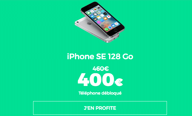 RED sfr iphone SE promo