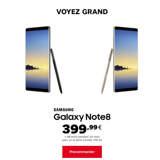 SFR Galaxy Note