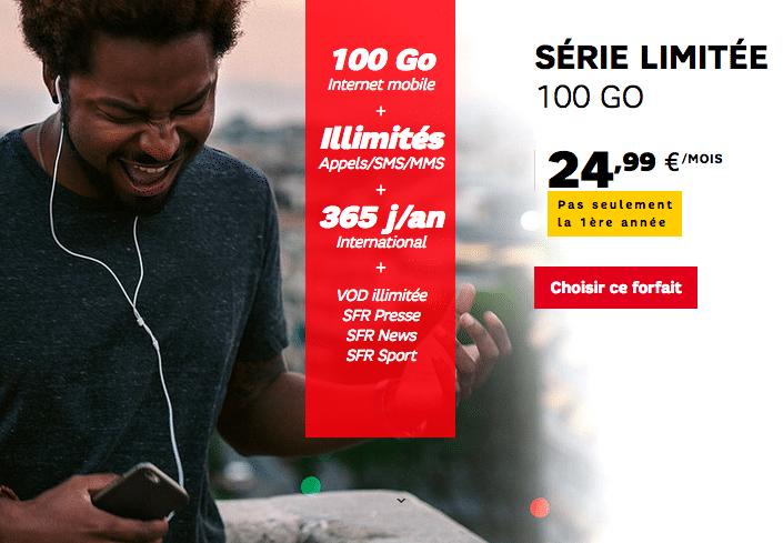 SFR 100 Go forfait