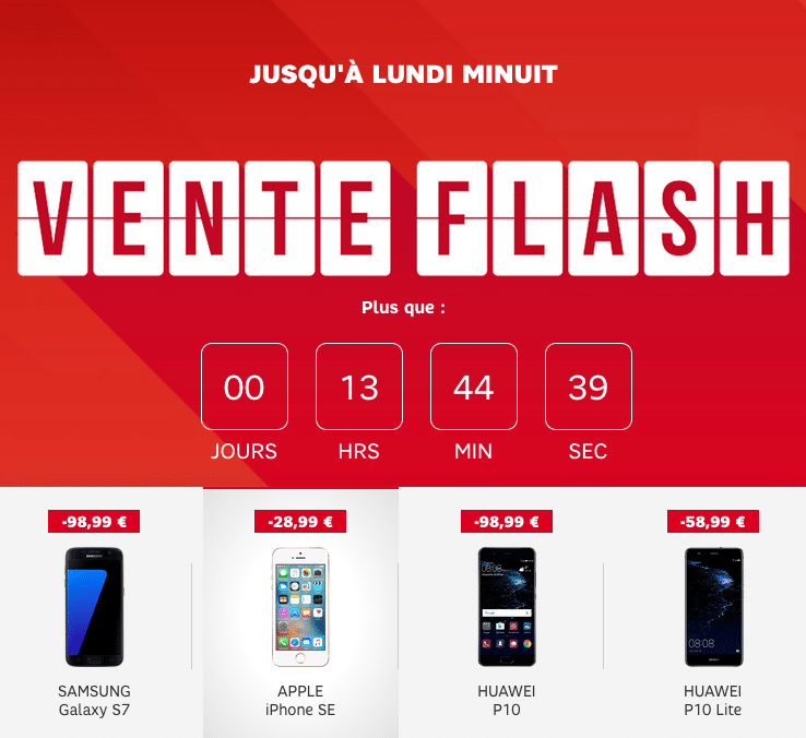 SFR Altice vente flash