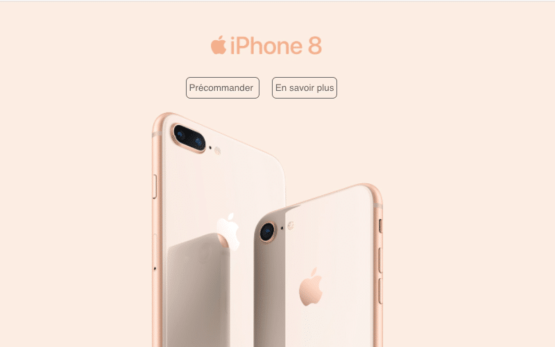 iPhone 8 apple SFR