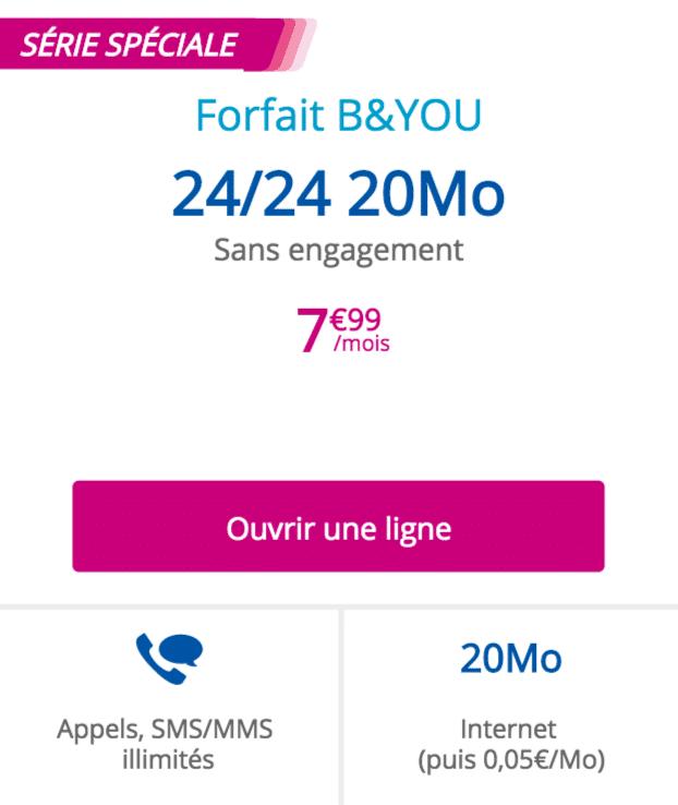 forfait B&You 24/24