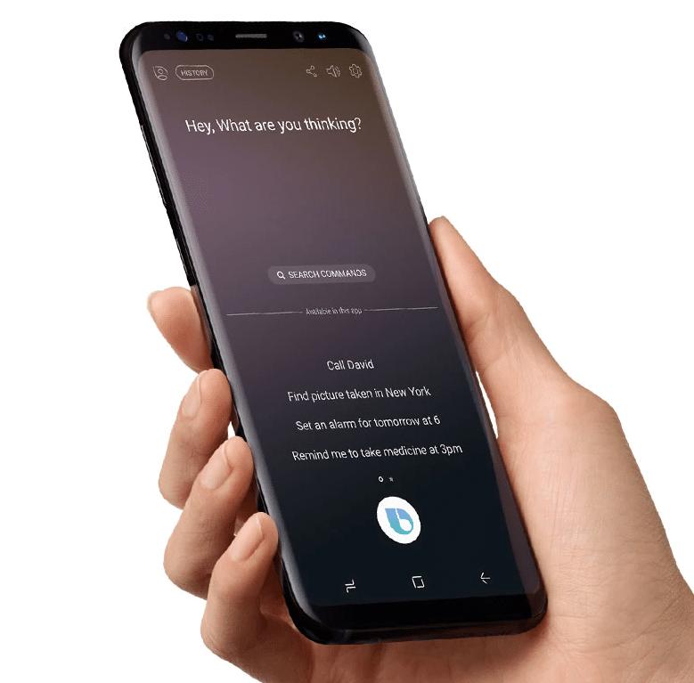 La commande vocale de Bixby est seulement disponible en anglais et en coréen