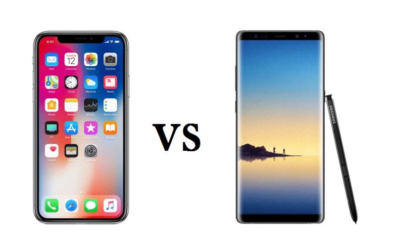 Les écrans borderless des iPhone X et Galaxy Note8