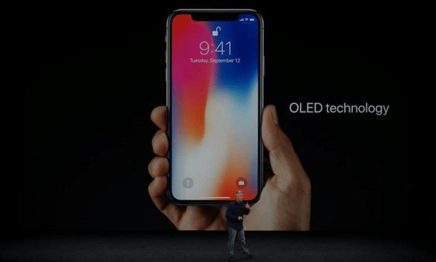 l'iphone X intègre un écran OLED