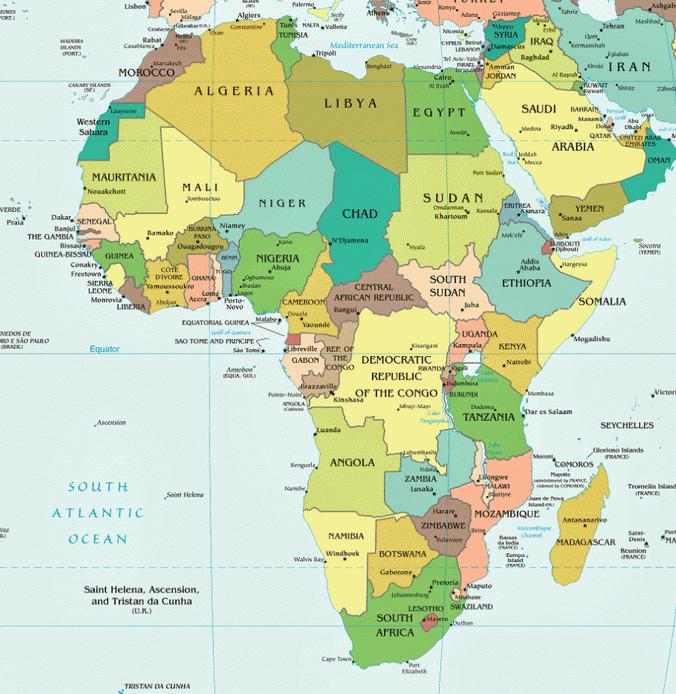 forfait afrique carte