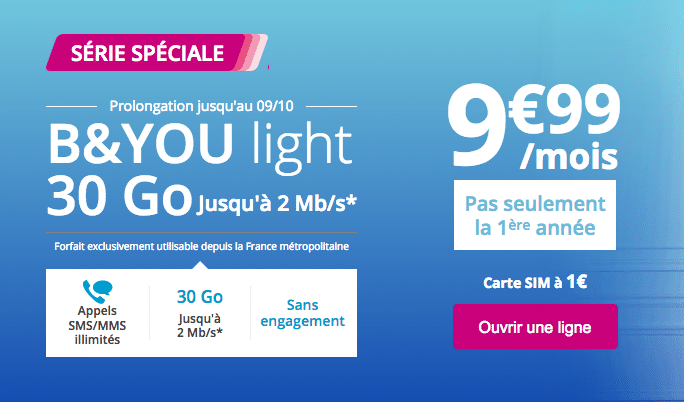 Forfait B&YOU Light