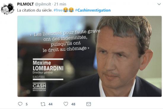 Maxime Lombardini confond indemnités et chômage.