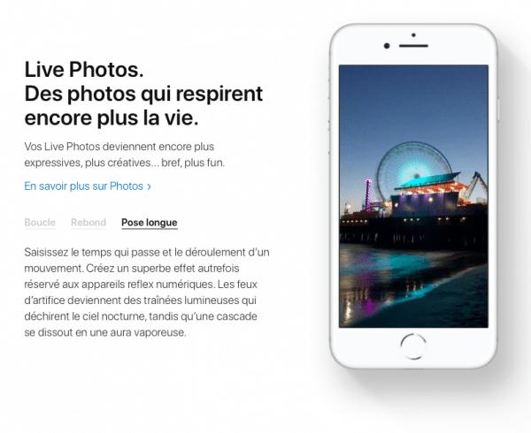 Le nouvel iOS 11 fourni avec l'iPhone X améliore les Live Photos
