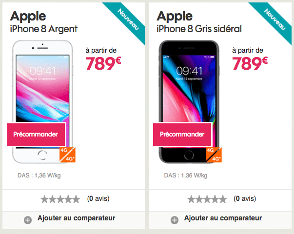 iPhone 8 Sosh prix