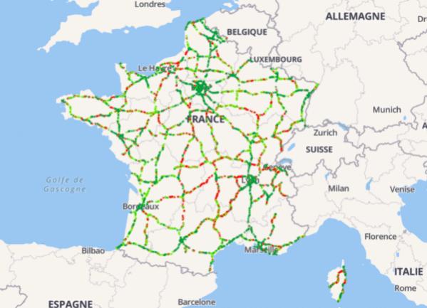 La couverture des autoroute varie d'une région à l'autre