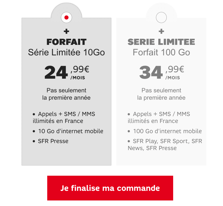 vente flash forfaits sfr