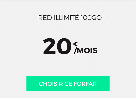 forfait de RED by SFR