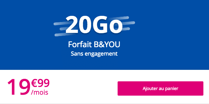 4G forfait LG Bouygues