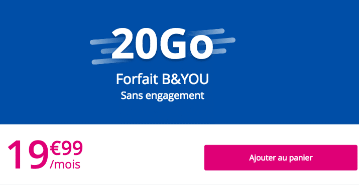 B&You forfait