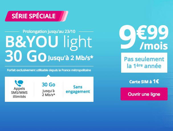 L'offre B&You Light de Bouygues Télécom