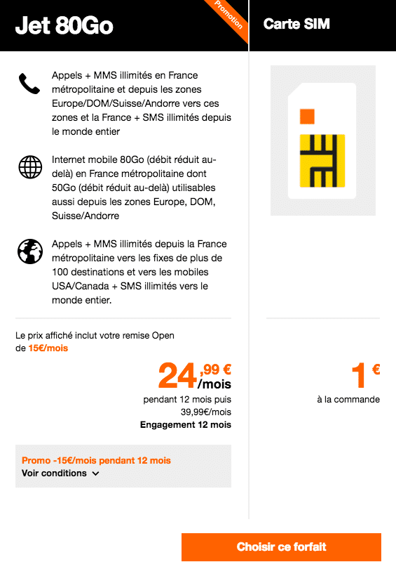 forfait data Orange