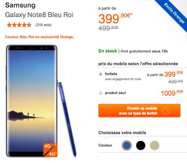 Orange Galaxy Note8