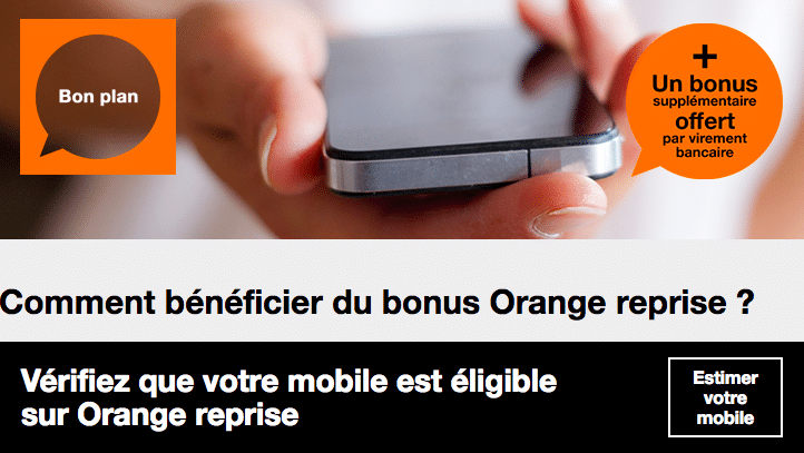 Orange bonus de reprise
