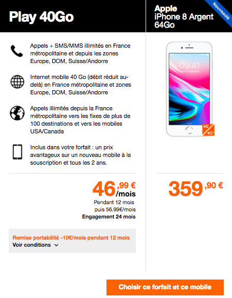 iPhone 8 orange